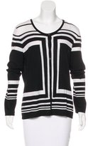 Rena Lange Wool Striped Cardigan