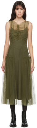 Molly Goddard SSENSE Exclusive Khaki Nova Dress