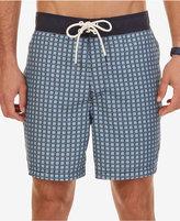 Nautica Men's Block-Pattern Quick-Dry Swim Trunks