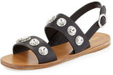Prada Crystal Double-Strap Sandal, Black (Nero)