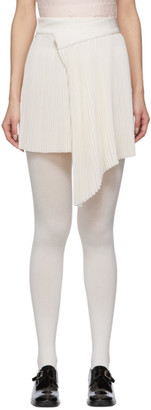 SHUSHU/TONG White Pleat Miniskirt
