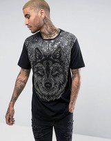 Reason T-Shirt With Wolf Print Embellishment