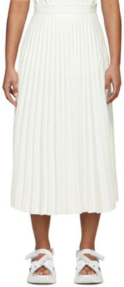 MM6 MAISON MARGIELA Off-White Coated Pleated Skirt