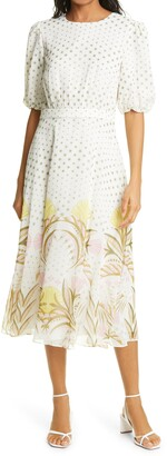 Ted Baker Joulia Print Fit & Flare Dress
