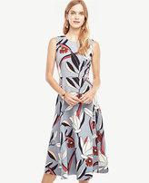 Ann Taylor Petite Water Lily Midi Dress