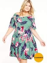 Junarose CURVE Floral Skater Dress