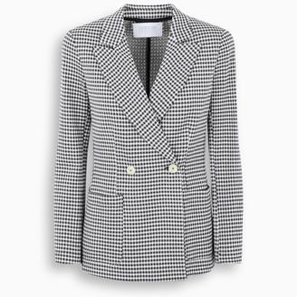 Harris Wharf London Navy/white checked blazer