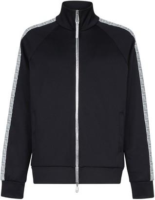 Fendi Prints On metallic stripe jacket