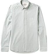 Acne Studios Isherwood Button-Down Collar Striped Cotton Oxford Shirt