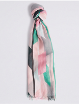 M&S Collection Abstract Blocks Scarf