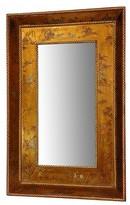 Oriental Furniture Gold Leaf Mirror - Gold