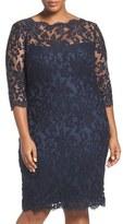 Tadashi Shoji Embroidered Lace Sheath Dress (Plus Size)