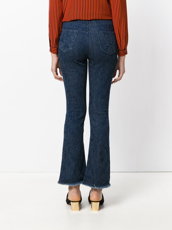 Etro fitted flared jeans