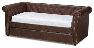 House of Hampton Mickel Upholstered Twin Daybed with Trundle House of Hampton
