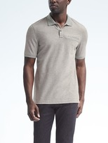 Banana Republic Pique Stripe-Collar Polo