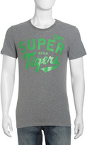 Superdry Tigers 76 Jersey Tee, Bright Kelly