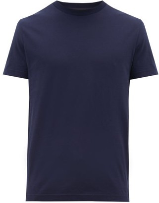 Prada Pack Of Three Cotton Jersey T Shirts - Mens - Navy