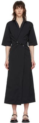 Markoo Black Snap-Front Dress