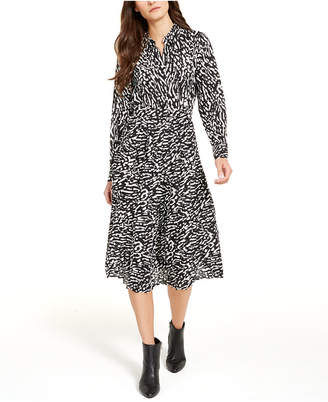 Alfani Printed Fit & Flare Dress