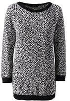 Classic Women's Tall Supima 3/4 Sleeve Jacquard Sweater-Black Animal Dot