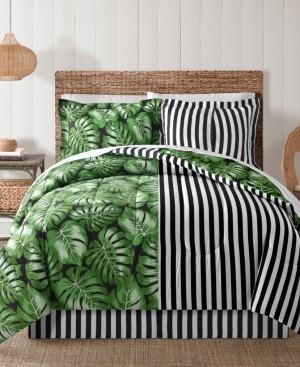 Sunham Fairfield Square Bermuda Palm 8Pc Twin Comforter Set Bedding