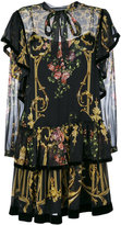 Alberta Ferretti layered floral print dress