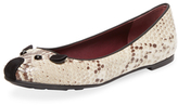 Marc by Marc Jacobs Mouse Embossed Leather Flat