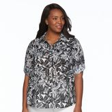 Croft & Barrow Plus Size Roll-Tab Shirt