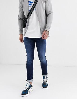 Replay Jondrill Eco Hyperflex Cloud stretch skinny jeans in dark wash-Blue
