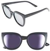 Quay Women's Noosa 50Mm Square Sunglasses - Pearl/ Blue