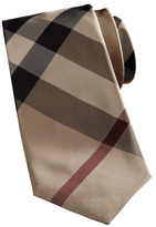 Burberry Skinny Exploded-Check Tie, Camel Trench