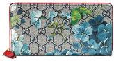 Gucci GG Blooms Zip-Around Wallet, Blue/Multi