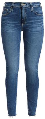 AG Jeans Farrah High-Rise Skinny Ankle Raw Hem Jeans