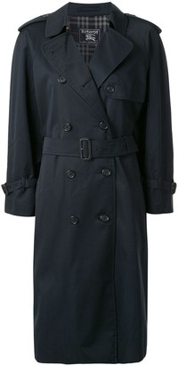 Burberry Pre Owned Double-Breasted Trench Coat
