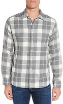 Grayers Men's Devon Trim Fit Plaid Herringbone Sport Shirt
