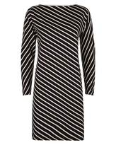 Jaeger Diagonal Breton Stripe Dress