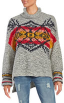 Free People Patterned Mockneck Sweater