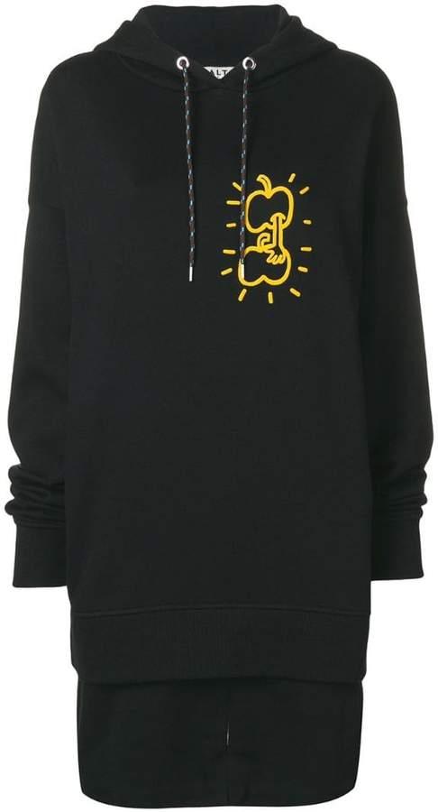 Aalto apple print hoodie dress