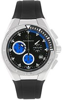 Technomarine Men's 110003 Cruise Steel Chronograph Black and Blue Dial Watch