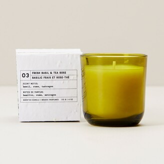 Indigo Scents Garden Glass Candle 03 Basil And Tea Rose Small