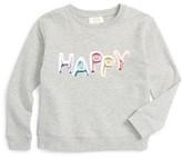 Kate Spade Girl's Happy Graphic Sweatshirt