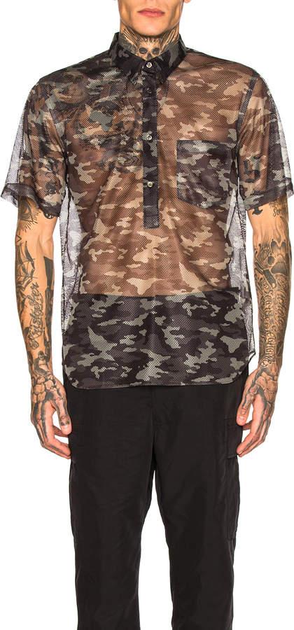 Comme des Garcons Printed Shirt in Black & Khaki | FWRD