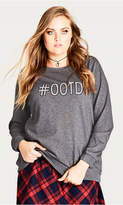 City Chic Hashtag Sweater