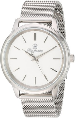Burgmeister Women's Quartz Watch with Silver Dial Analogue Display and Silver Metal Bracelet BMS02-111