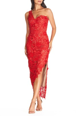 Dress the Population Magnolia One Shoulder Lace Bodycon Gown