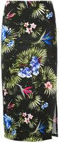 Fleur Du Mal tropical print slit skirt