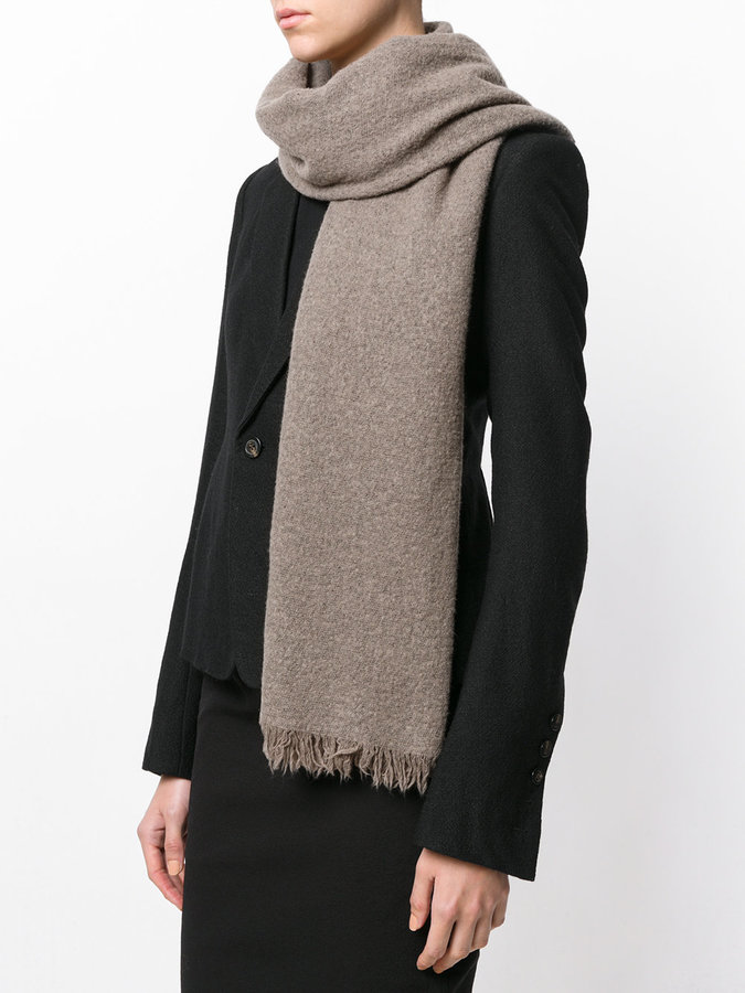 Rick Owens thick wrap scarf