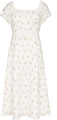 Reformation Annuka floral off-the-shoulder dress