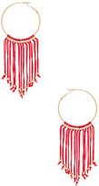 Ettika Fringe Hoop in Metallic Gold.