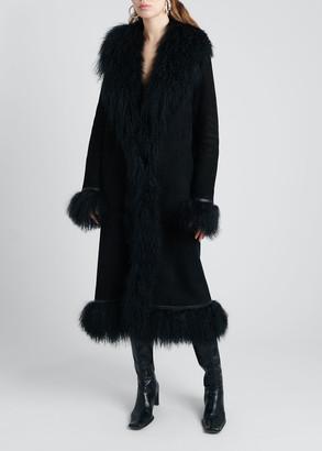 Saks Potts Bonnie Lamb Shearling Long Coat